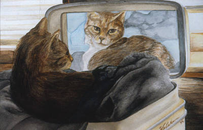 Colored Pencil Painting - How Do I Look by Phil Welsher