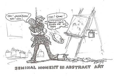 How Drip Art Started Art Print by Roger Swezey