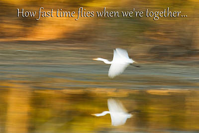 How Fast Time Flies When We're Together Art Print by Jeff Abrahamson