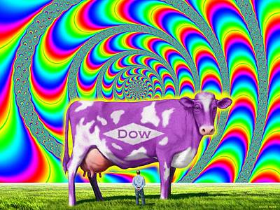 Digital Art - How Now Dow Cow? by Scott Ross