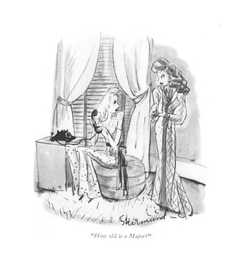 How Old Is A Major? Art Print