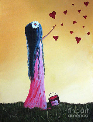 Heart Painting - How She Says I Love You By Shawna Erback by Shawna Erback
