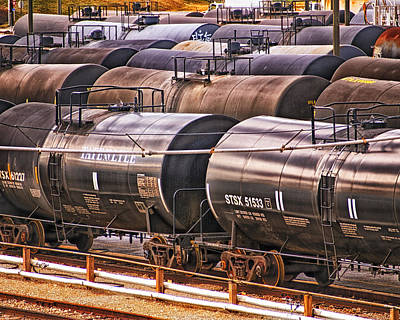 Photograph - How Sweet It Is - Tank Cars by Bill Swartwout Fine Art Photography