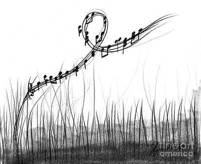 Drawing - How Sweet The Sound by J Ferwerda