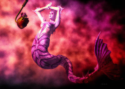 Whimsical Digital Art - How To Catch Mermaids by Bob Orsillo