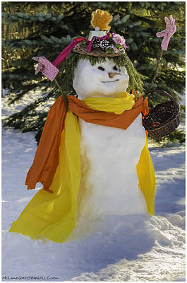 Father Photograph - How To Dress A Snow Woman by LeeAnn McLaneGoetz McLaneGoetzStudioLLCcom