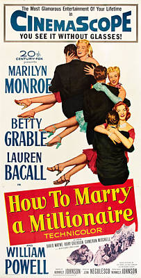 Bacall Photograph - How To Marry A Millionaire, From Top by Everett