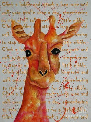 Painting - How To Walk Your Giraffe by Tamyra Crossley