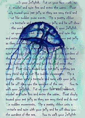 Painting - How To Walk Your Jellyfish  by Tamyra Crossley