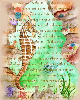 Painting - How To Walk Your Seahorse by Tamyra Crossley