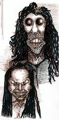 Boardroom Digital Art - Howard Stern And Robin Quivers by Del Gaizo