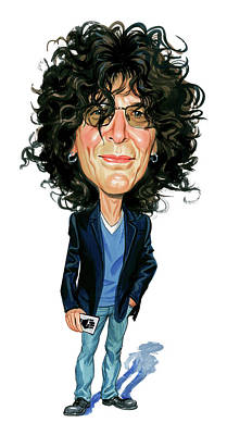 Cheerful Painting - Howard Stern by Art