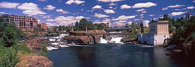 Howard Street Bridge Over Spokane Art Print by Panoramic Images
