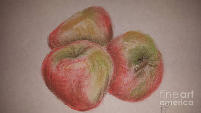 Pastel - How'd You Like Them Apples by Jeanette Hibbert