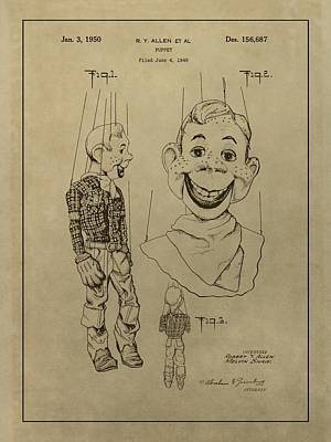 Old Tv Drawing - Howdy Doody by Dan Sproul