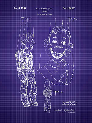 Photograph - Howdy Doody Style Puppet Patent by Barry Jones