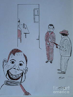 Art Print featuring the drawing Howdy Lee And Me by Bill OConnor