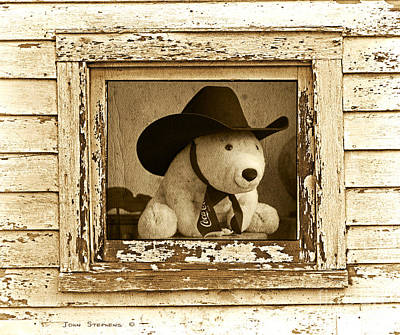 Howdy Partner Coca-cola Bear Art Print