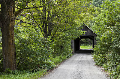 Photograph - Howe Covered Bridge by Alan L Graham