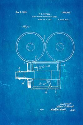 Howell Direct Viewing Camera Patent Art 1929 Blueprint Art Print by Ian Monk