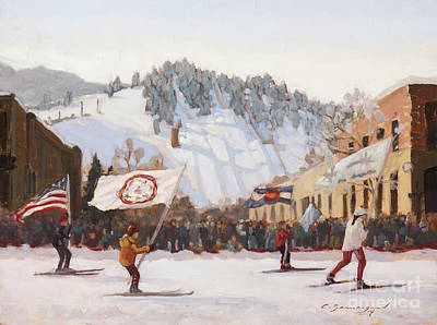 Ski Painting - Howelsen's Legacy by Chula Beauregard