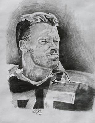 Oakland Raiders Drawing - Howie Long by Jeremy Moore