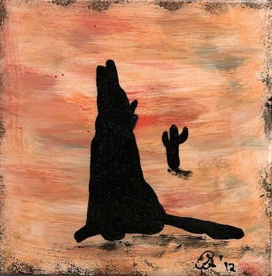 Howling At The Moon Art Print by Gail Schmiedlin