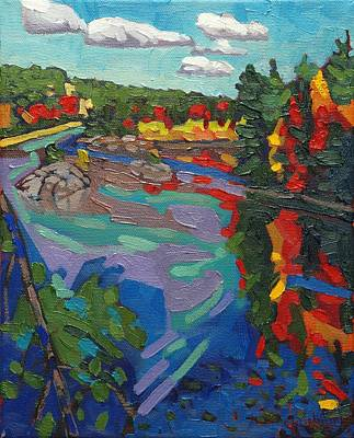 Charlton Painting - Howry Creek Campsite by Phil Chadwick