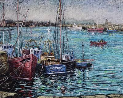 Howth Harbour  Dublin Art Print by John  Nolan