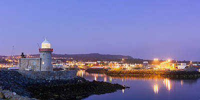 Photograph - Howth Harbour Lighthouse by Semmick Photo