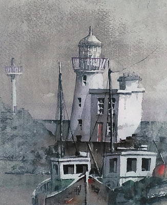 Howth Lighthouse Dublin Art Print
