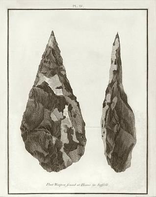 Hoxne Handaxe Art Print by Middle Temple Library