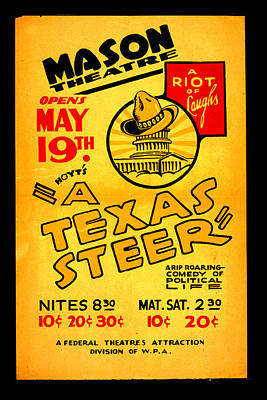 Hoyts A Texas Steer Print by Unknown