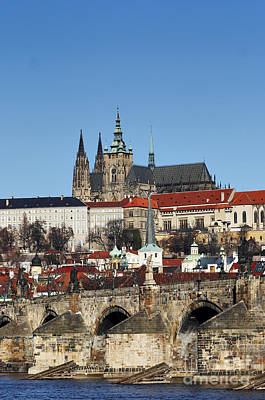 Hradcany - Prague Castle Print by Michal Boubin