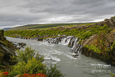 Photograph - Hraunfossar Waterfall In Iceland by Patricia Hofmeester