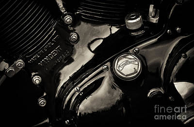 Photograph - Hrd Vincent Engine Detail by Tim Gainey