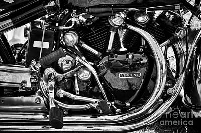 Photograph - Hrd Vincent Series D Motorcycle Engine by Tim Gainey