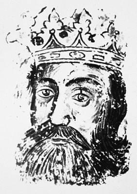 Serbian Painting - Hrebeljanovic Lazar (1329-1389) by Granger