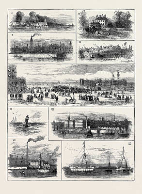 Chemical Drawing - H.r.h. The Duke Of Edinburgh At Liverpool by English School