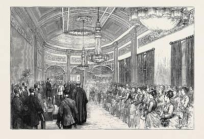 H.r.h. The Duke Of Edinburgh At Liverpool Reception Art Print
