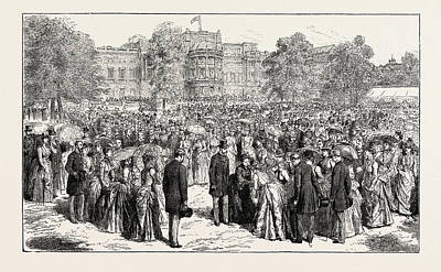 Jubilee Drawing - H.r.h. The Prince Of Wales Attending Her Majesty by Welsh School