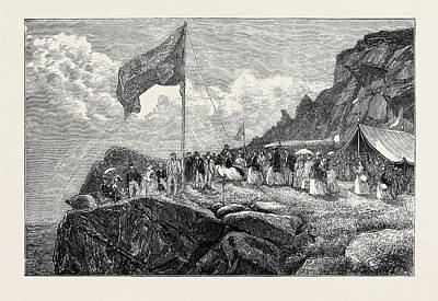 Cambridge Drawing - H.r.h. The Princess Mary Of Cambridge Visiting The Roaches by English School