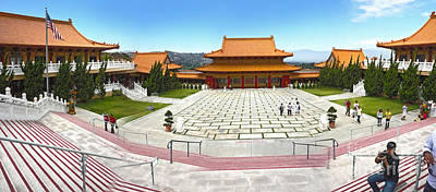 Hsi Lai Temple - 07 Art Print by Gregory Dyer