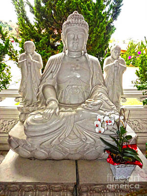 Photograph - Hsi Lai Temple - Buddha - 05 by Gregory Dyer