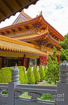 Hsi Lai Temple - 02 Art Print by Gregory Dyer