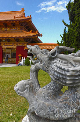 Hsi Lai Temple - 03 Art Print by Gregory Dyer