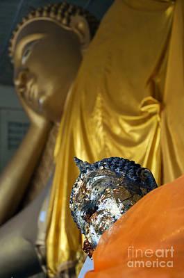 Peaceful Symbols Photograph - Hua Hin Reclining Buddha 01 by Antony McAulay