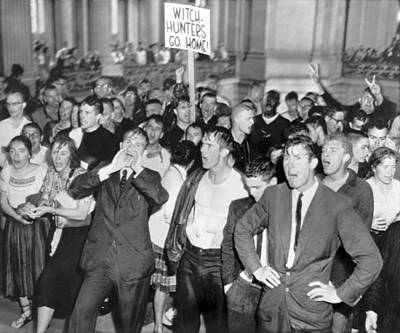 Protest Photograph - Huac Protests In San Francisco by Underwood Archives
