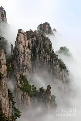 Anhui Photograph - Huangshan China National Park by King Wu