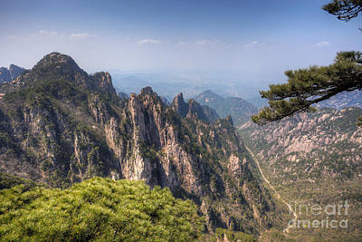 Anhui Photograph - Huangshan Mountain Chinese Famous Landscape by Fototrav Print